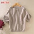 Kašmyro megztinis trumpomis rankovėmis