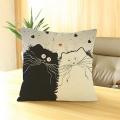 Dekoro pagalvės užvalkalas su katinais